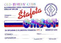 Diplom Štafeta OM9OT